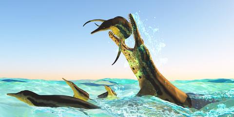 Kronosaurus Marine Reptile Attack