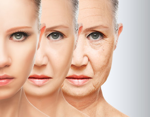 beauty concept skin aging. anti-aging procedures