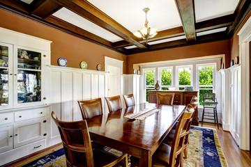 Elegant family size dining table set