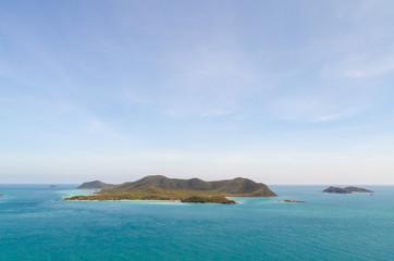 Island and blue sea ,sattahip thailand