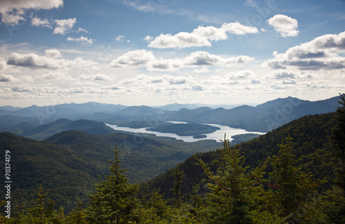 Wall mural Adirondack mountains forests and lakes landscape