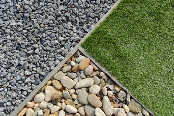 Combinations of grass and stones Wall mural