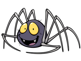 Vector illustration of Spider cartoon