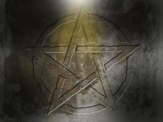 Pentagramm Mauer