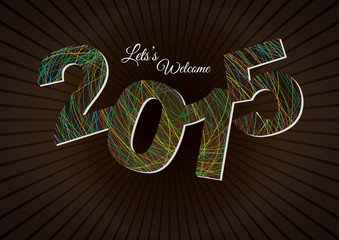Happy New Year 2015 - Poster / Template / Background Design