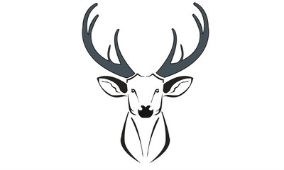 deer symbol logo draw