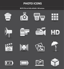 Photo icons,vector