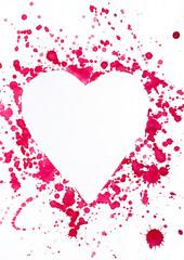 Tintenfleck in Herzform