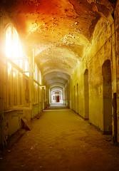 Fototapete - empty hallway