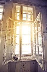 Fototapete - old window