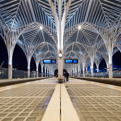 Interior of Oriente Station, Lisbon.