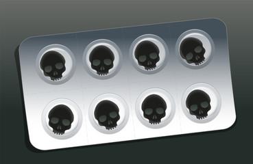 Pills Blister Skull