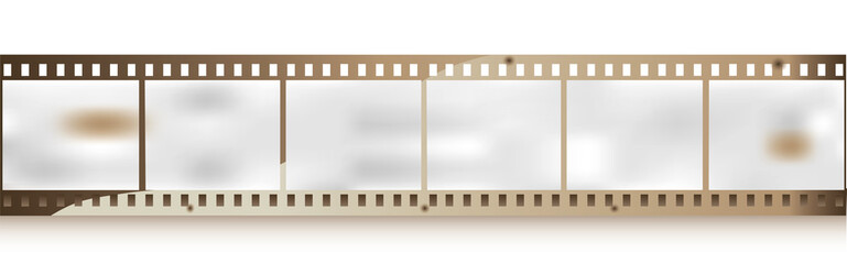 Blank grained film strips