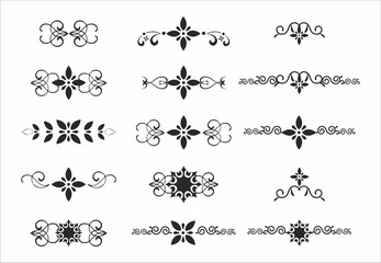 decorative delimiter elements separator set