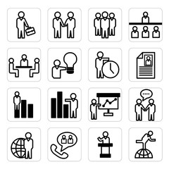 Human Resource and Business Icons
