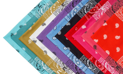 colorful bandana isolated