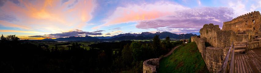 Sonnenaufgang im Allgäu - Panorama