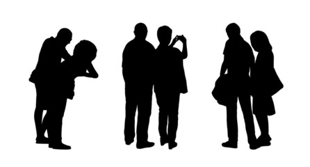 people standing outdoor silhouettes set 20