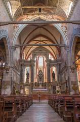 Venice - The Presbytery of the church Chiesa di San Stefano