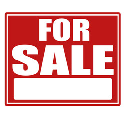 Sale red sign with copy space