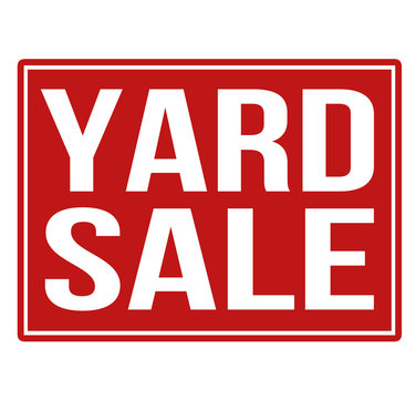 Yard sale red sign