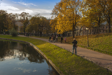 St. Petersburg, Russia. The Yusupov garden. Autumn look