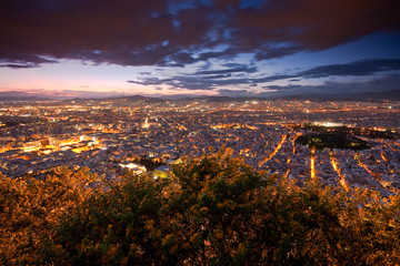 Printed kitchen splashbacks Athens View of Athens from Lycabettus hill.