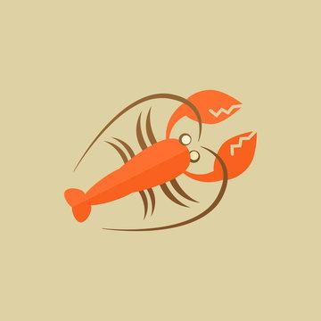 Lobster. Food Flat Icon