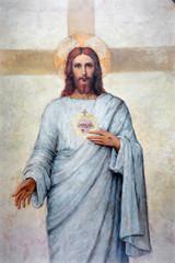 Padua - heart of Jesus Christ paint in Duomo