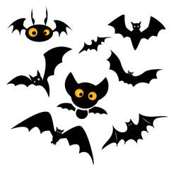 Halloween bat clip art illustration