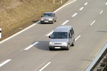Fototapete - Auf der Autobahn