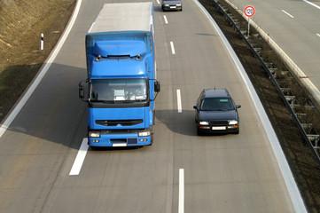 Fototapete - Autobahn im Fokus