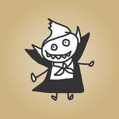 vector sketch halloween character