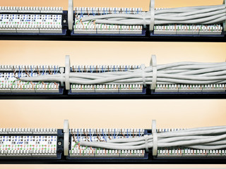 rear view of the patch panels