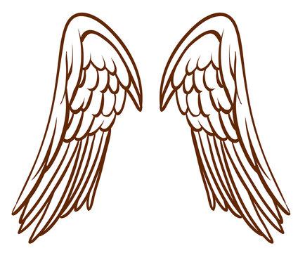 A simple sketch of an angel's wings