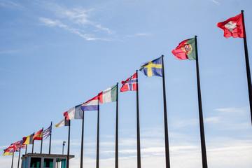 drapeau du monde dans le vent