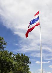 wafting Thailand flag
