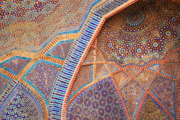 Detail of tile work (Shah Jahan Mosque)