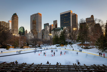 Fotomurales - Ice skating in New York City