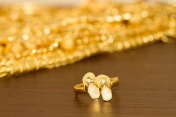 golden sandal ring