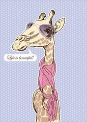 glamorous giraffe