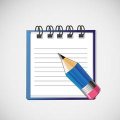 Vector notebook with clean sheets un pencil