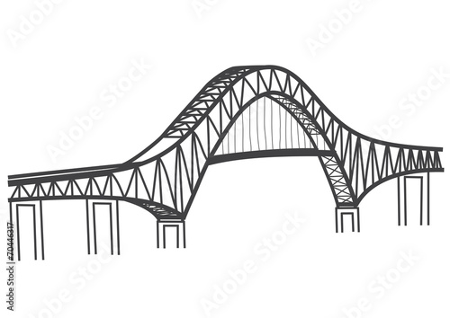 u0026quot drawing of the bridge of the americas  panama canal