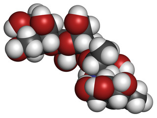 Acarbose diabetes drug molecule. Blocks carbohydrate digestion.