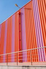 Large orange building
