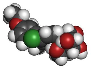Dapagliflozin diabetes drug molecule.