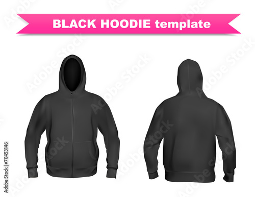 """Black Hoodie Template"""" Stock Image And Royalty-Free Vector Files"""