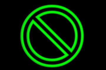 Green Neon No Sign