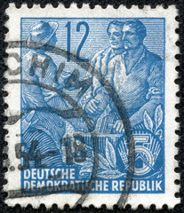 stamp shows Agricultural and industrial workers