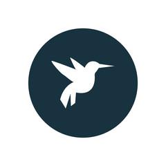flying bird circle background icon.